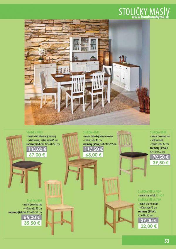 Bomba Nábytok 08 Stoly a stoličky 1