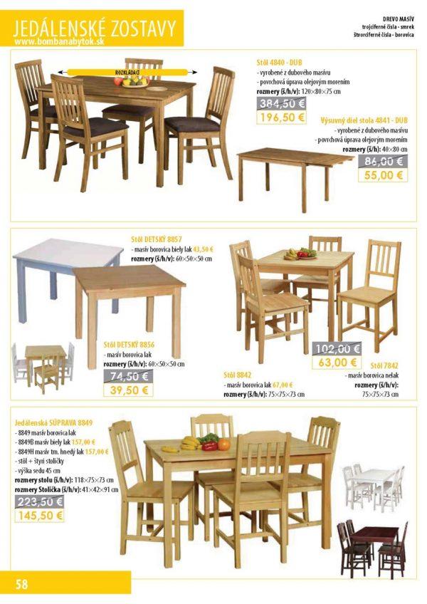 Bomba Nábytok 08 Stoly a stoličky 6