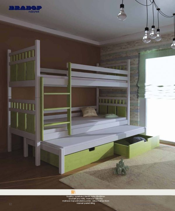 Masív Bradop 50 Detské postele