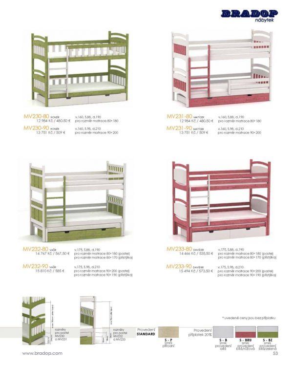 Masív Bradop 51 Detské postele