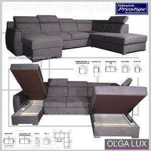 Olga sedacia súprava tvar U