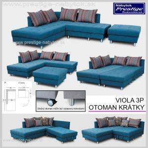 Viola sedacia súprava Otoman krátky